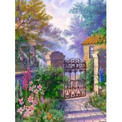 Diamond Painting Entree Au Jardin Borduurpakketten Belgie Vlug Geleverd Grote Keuze
