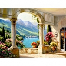 Diamond Painting Italiaans Terras