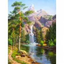 Diamond Painting Bergwaterval