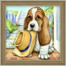 Diamond Painting Kleine Basset