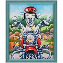 Diamond Painting Woef de Motard
