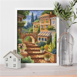 Diamond Painting Italiaans Steegje