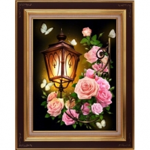 Diamond Painting  Lantaarn met Rozen