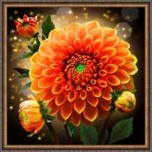 Diamond Painting Prachtige Dahlia