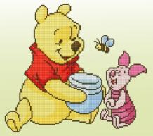 Diamond Painting Disney Pooh met knorretje