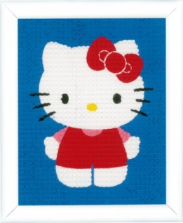 Borduurpakket HK kinderen Hello Kitty