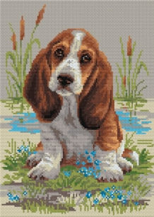 Diamond Painting Basset puppy
